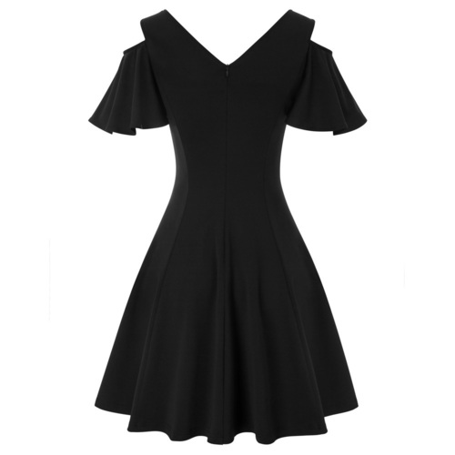 Kelly Dress in Black & Navy