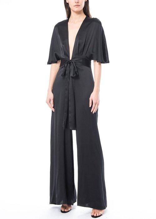 Black Silk Jumpsuit