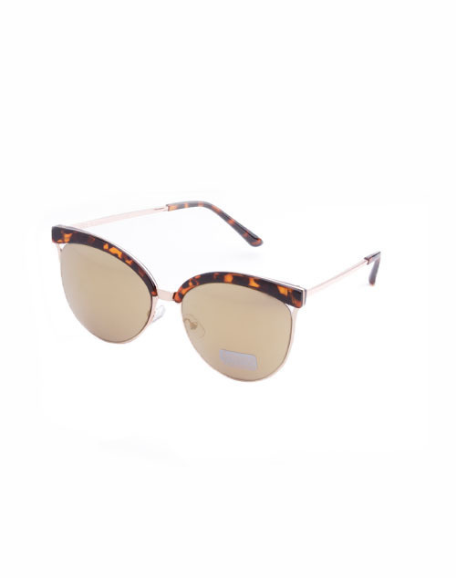 Tortoise Rose Gold Lens Sunglass