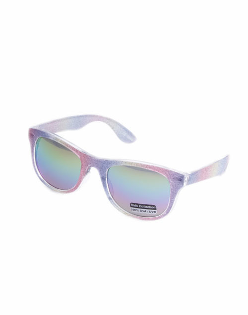 Kid Glitter Wayfarer Sunglass