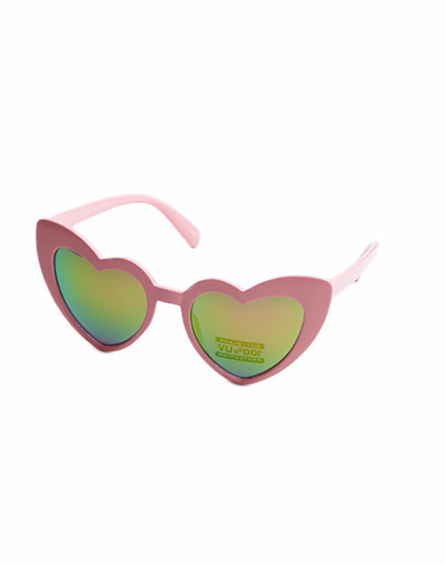 Kids Heart Cat Eye Mirror Lens Sunglass