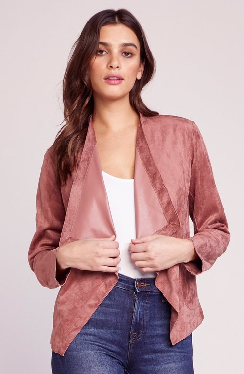 Teagan Reversible Suede Rose Taupe