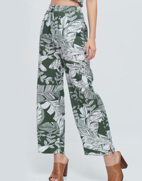 Floral Print Woven Pant