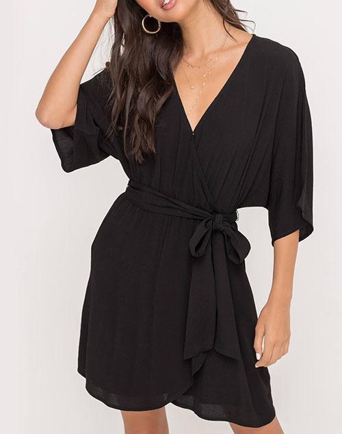Flowy Wrap Style Dress