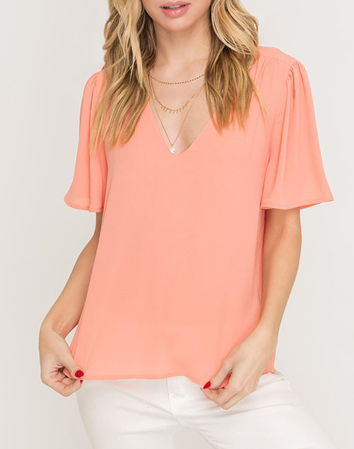 Draped Ribbed Knit Top