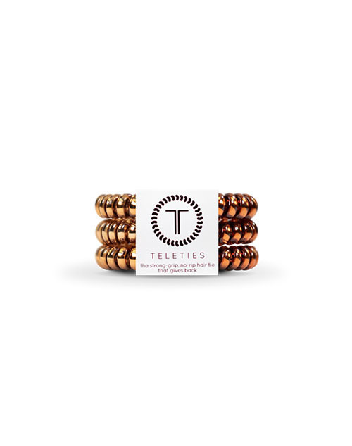 Teleties 3 Pack Small - Caramel Copper