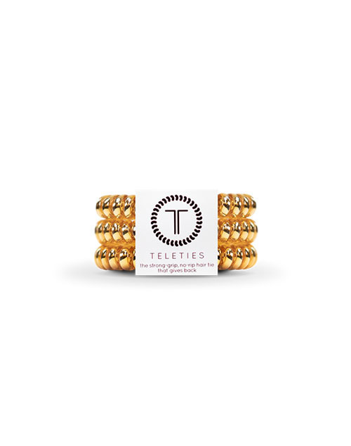 Teleties 3 Pack Small - Champagne Gold
