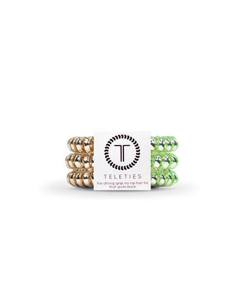 Teleties 3 Pack Small - Calypso Sheen