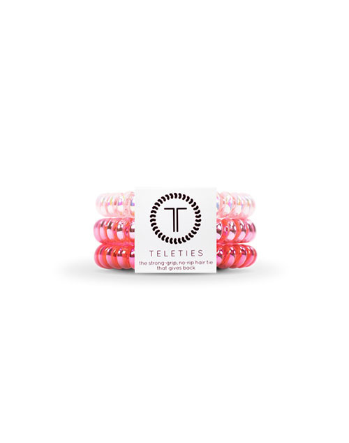 Teleties 3 Pack Small - Think Pink