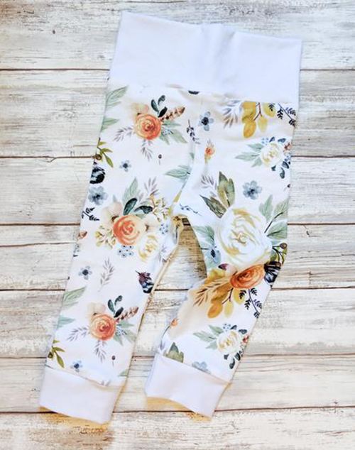 Kids Boho Floral Leggings
