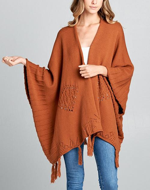Fringe Knit Kimono