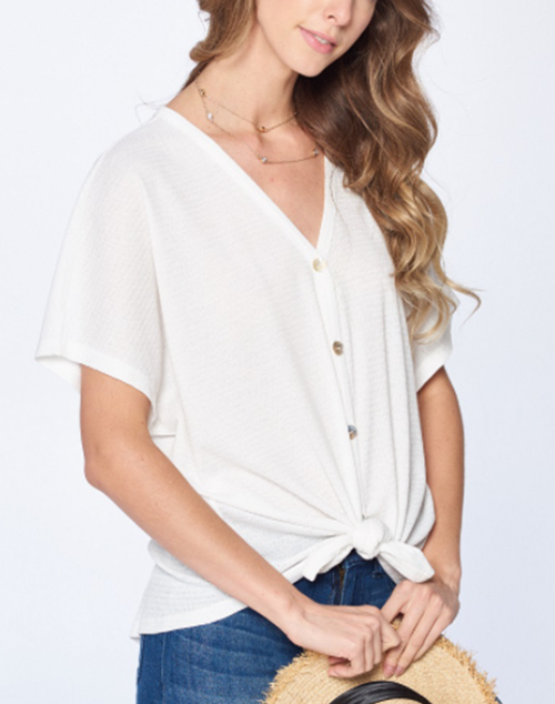 Gianna Button Down Tie Top