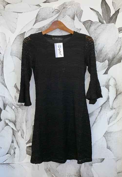 Lace Dress w/Bell Sleeves