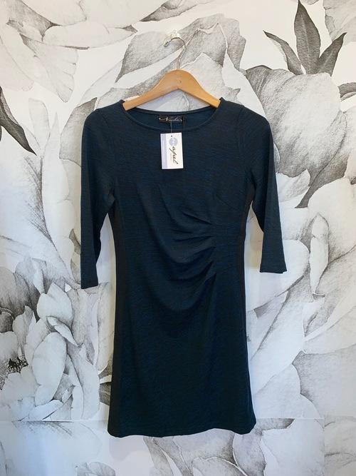 Side Pleated Sunburst Dress