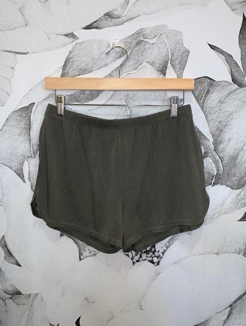 Olive Knit Shorts