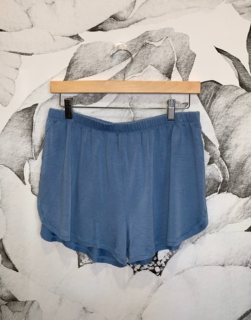 Blue Knit Shorts
