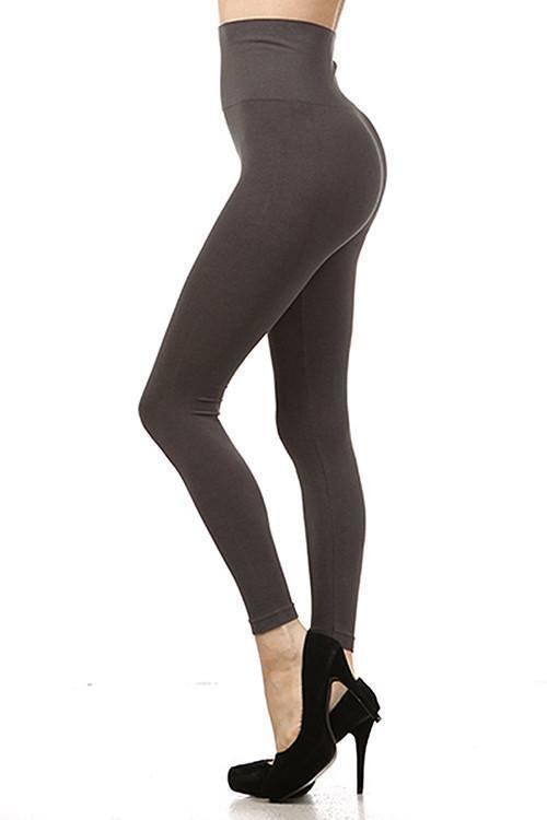 Dark Grey Tummy Tuck Leggings OSFM