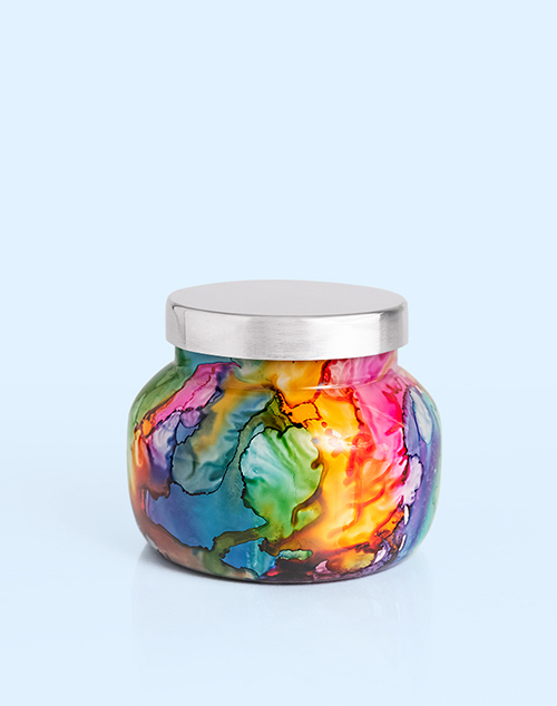 Volcano Rainbow Watercolor Petite Jar Candle 8oz