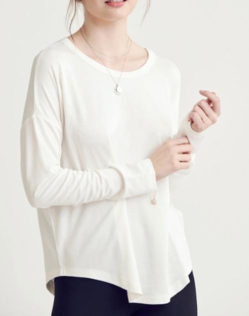 Round Neck Basic Long Sleeve Top