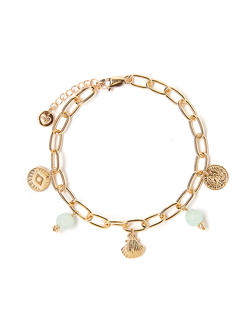 Little Treasures Pacific Blue Charm Bracelet Gold Plated