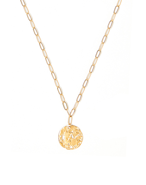 Large Relic Charm Necklace Gold Plated