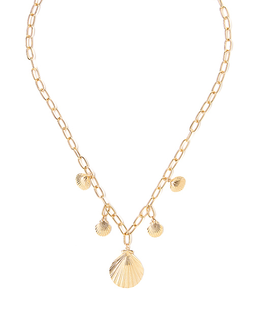 Coastal Statement Necklace Gold Plated