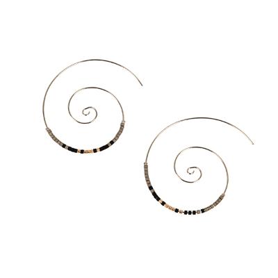 Silver Spiral Threader with Black