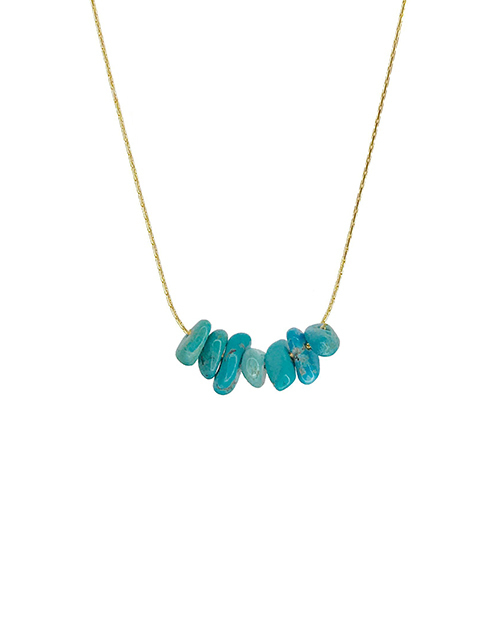 Turquoise Rock Candy Necklace