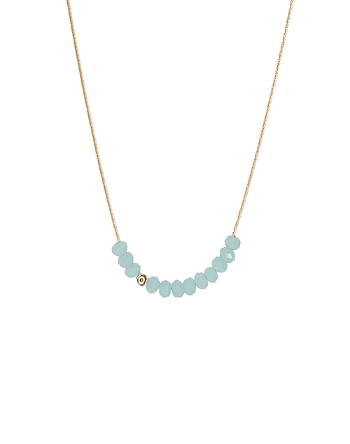 Mini Beads Turquoise Necklace