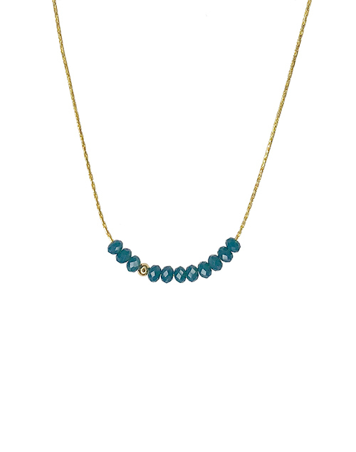 Mini Beads Teal Necklace