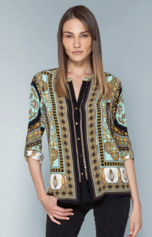 Pilar Silk Button Blouse