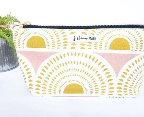 Jillian Made Sunrise Small Cosmetic Bag