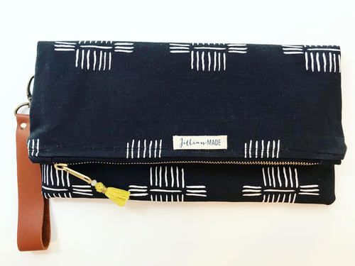 Jillian Made Deep Night Black Clutch