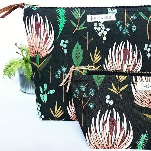 Jillian Made Modern Thistle Large Cosmetic Bag