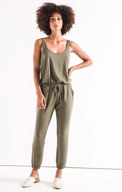 Leaf Tank Jumpsuit