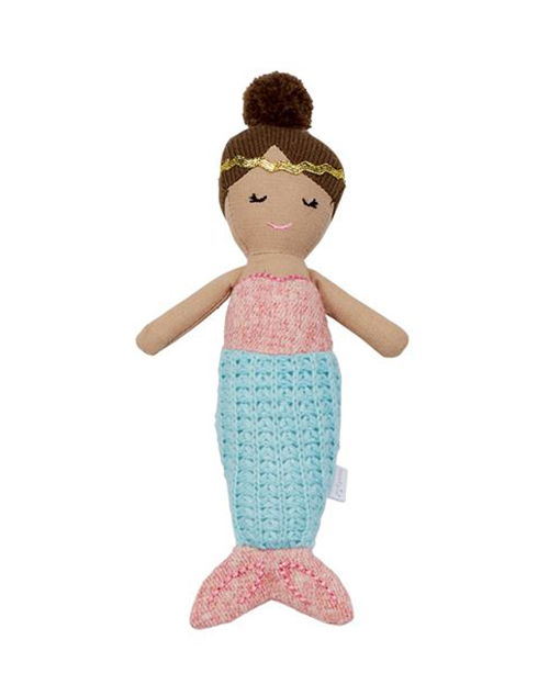 Blue Tail Mermaid Rattle