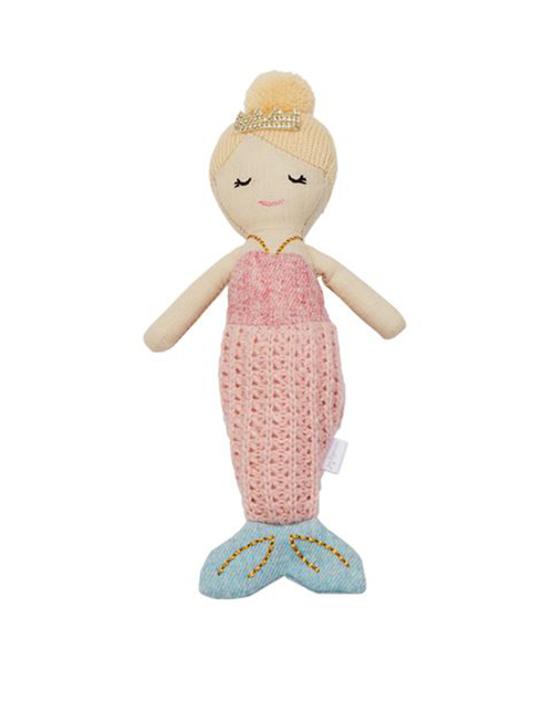 Pink Tail Mermaid Rattle