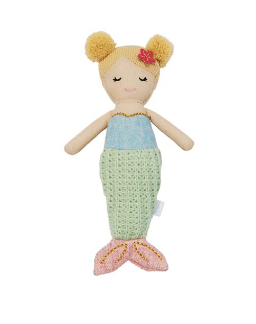 Green Tail Mermaid Rattle