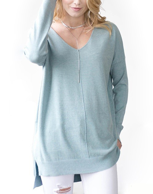 Sweater With Front Seam