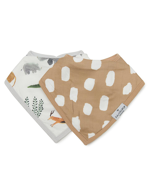 Bandana Bib Set - Safari Jungle