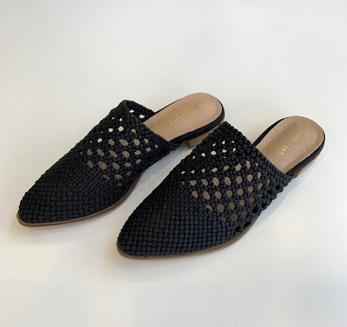 The Rhea Basket Weave Mule