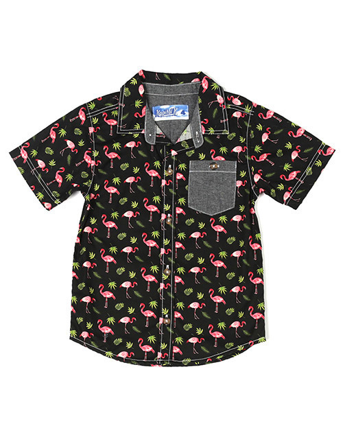 Flamingo Printed Button Down Shirt