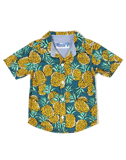 Pineapple Printed Button Down Shirt