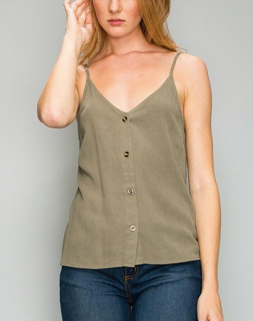 Button Down Cami Tank