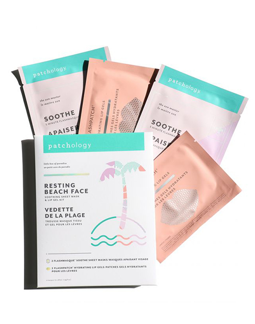 Resting Beach Face Sheet Mask + Lip