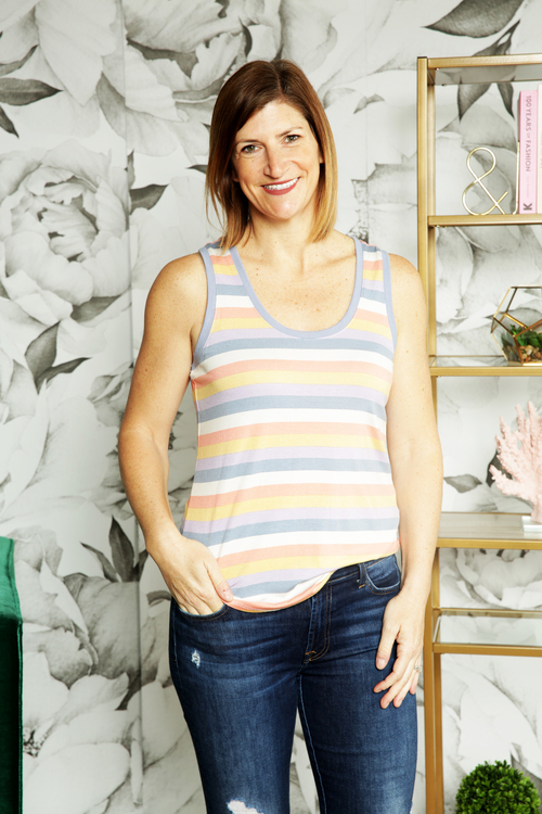 The Rainbow Stripe Tank