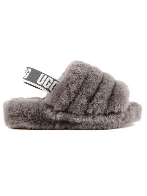 Ugg Fluff Yeah Slide Charcoal By Ugg J Michael Shoes