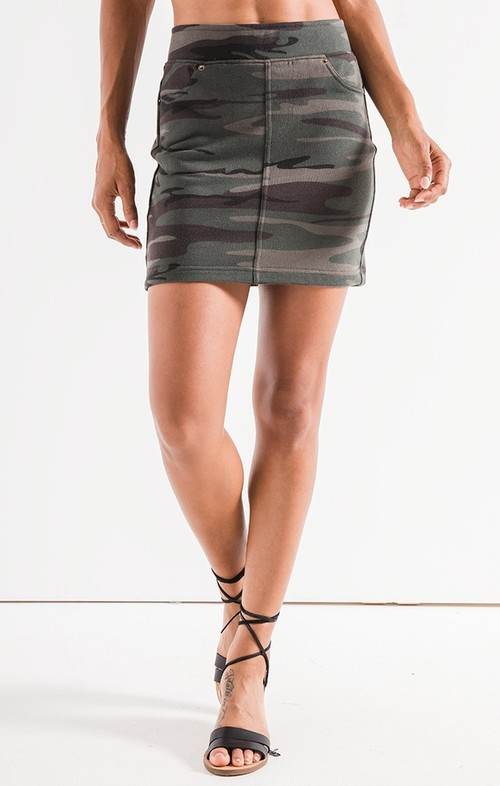 The Camo Knit Mini Skirt