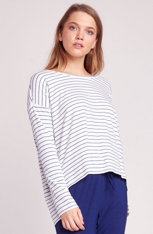 Fast & Loose Stripe L/S Top