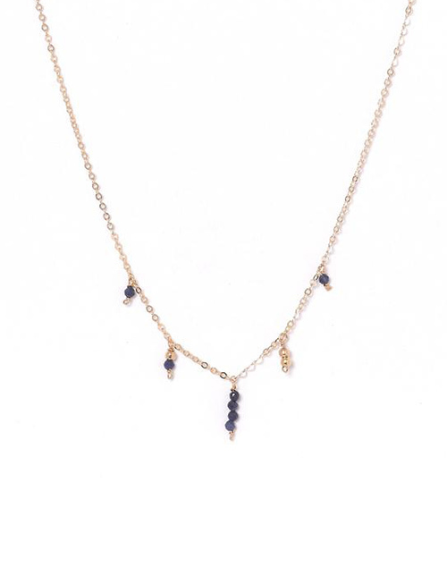 Penelope Sapphire Necklace 14K Gold Filled